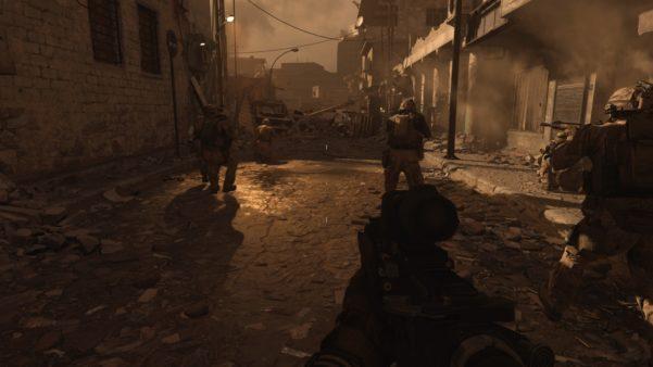 Modern Warfare, a street