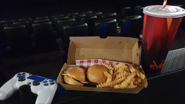 Cinema Gaming - food